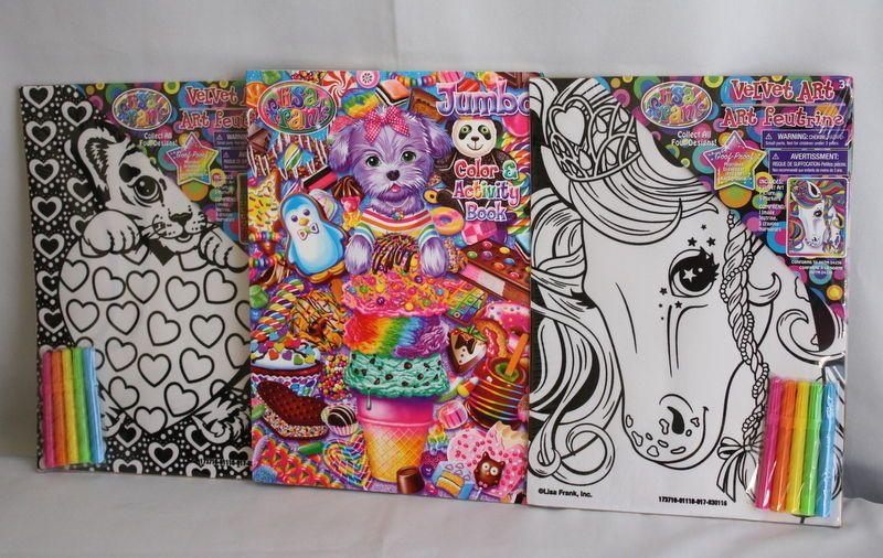 Lisa Frank Lot 2 Velvet Art And Coloring Book Hunter And Unicorn #LisaFrank
