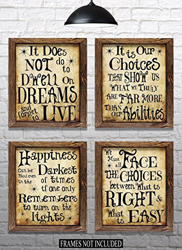 Harry Potter Quotes ` Sayings - Set of 4 - 8`x10` Prints - Great Harry Potter Gifts (set #1) images