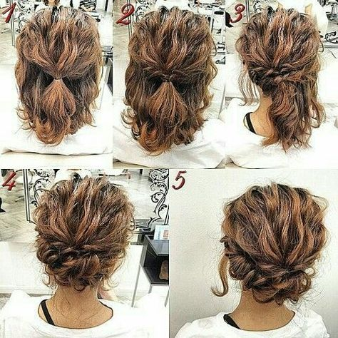easy hair up dos for both long hair and medium length hair