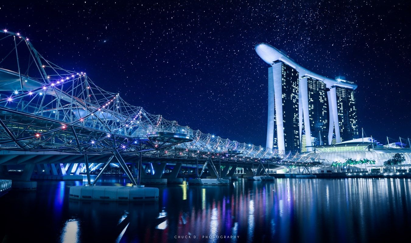 Photograph Starry Night in Singapore by Chuck D. on 500px