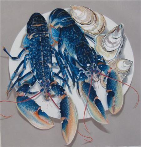 Danka Napiorkowska Two Blue Lobsters