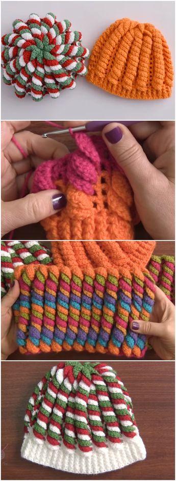 Crochet Beanie Hat Serpentine Stitch Free Pattern Video Crochet