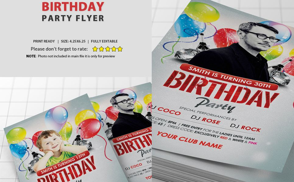 Birthday Party Flyer Corporate Identity Template 68835