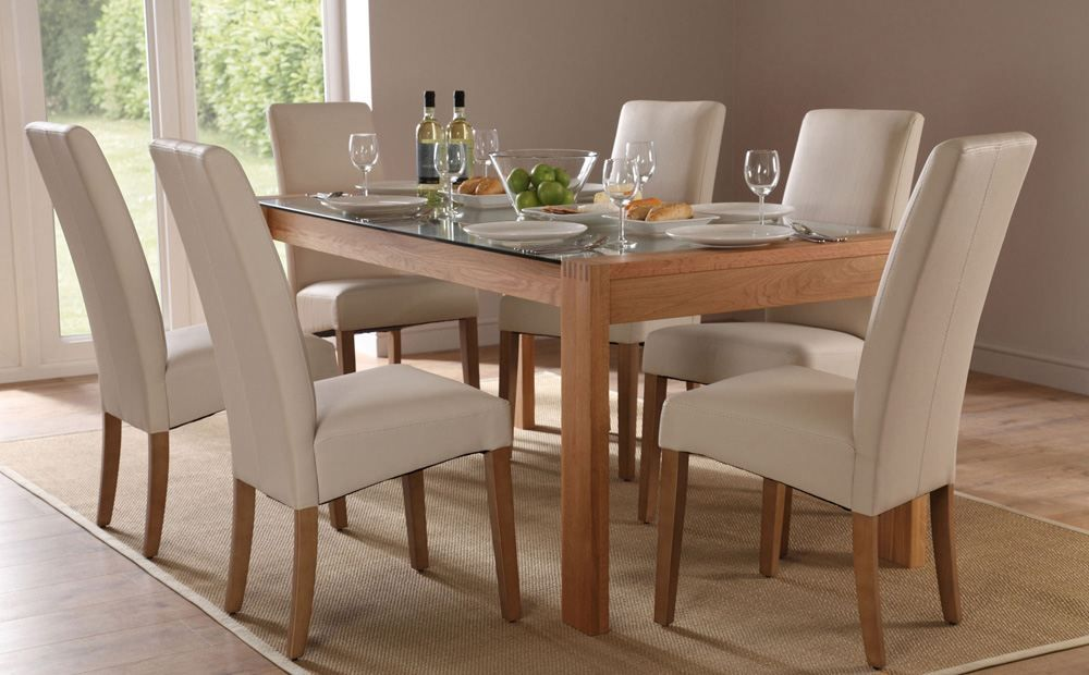 Callisto 150 Oak And Glass Dining Table And 4 Chairs Set Grange