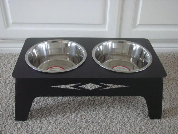 Aztec Designer Dog Food Bowl 14 Gauge Metal By Metalheadartdesign 125 00 Dog Food Bowls Dog Food Holder Pet Bowls Stand