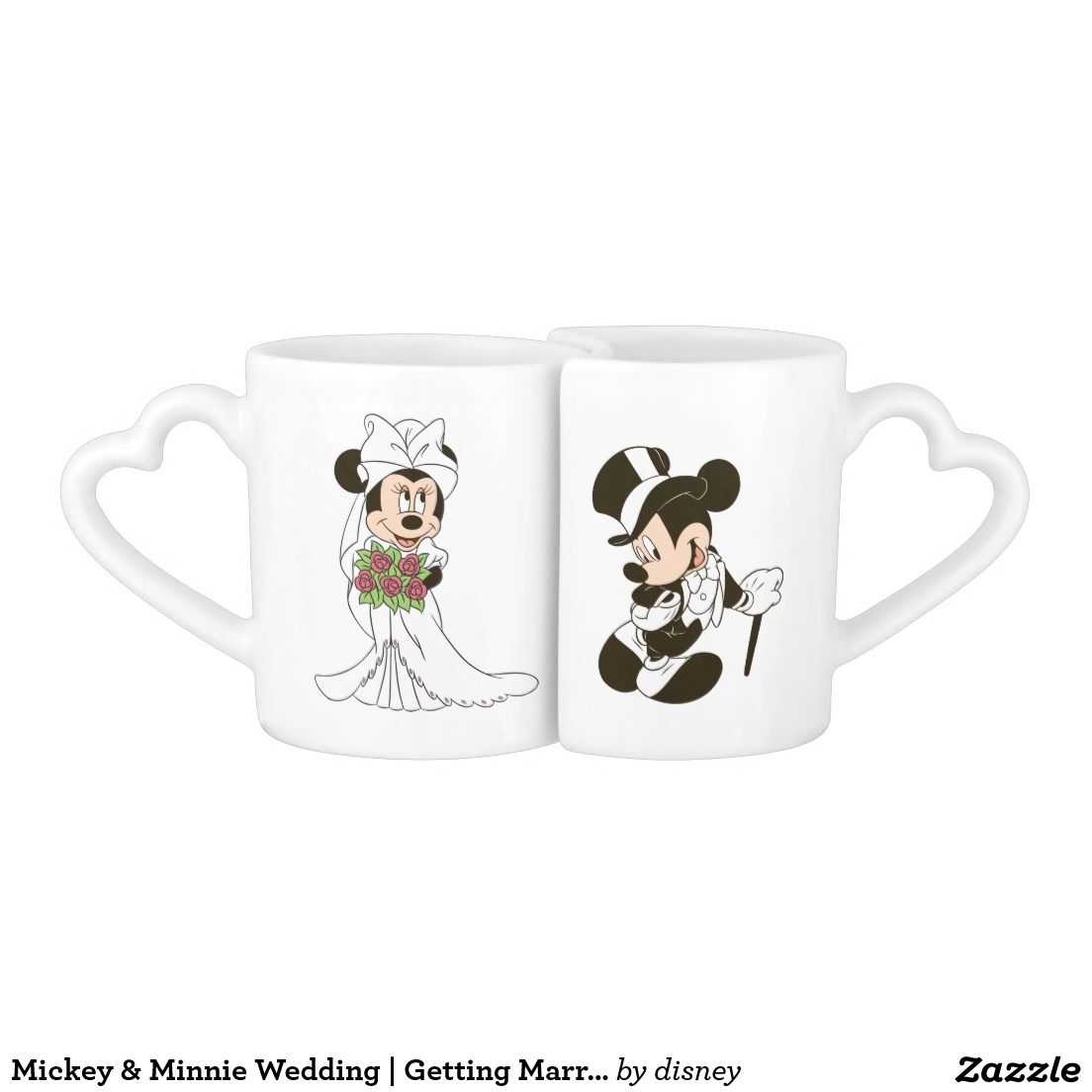 Disney Mickey & Minnie Wedding | Getting Married Coffee Mug Set ...