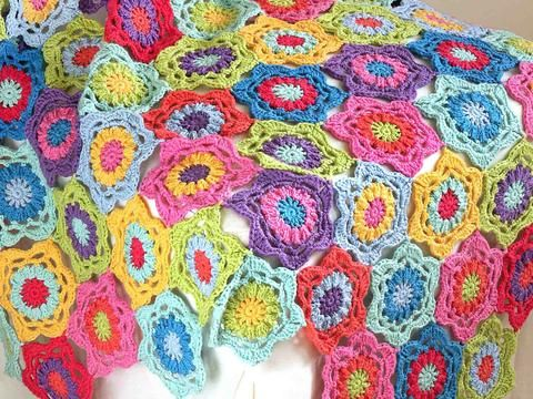 close up of floral throw