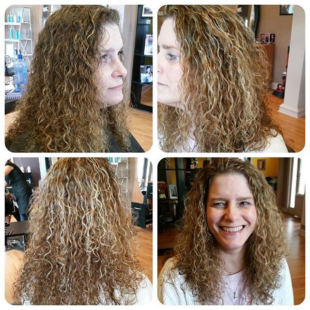 Spiral Perm With Highlights Spiral Perm Permed Hairstyles Perm