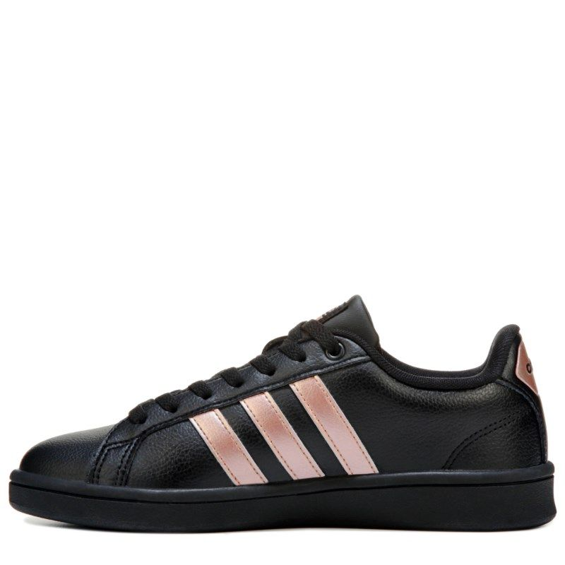 new arrival de8ea db28f Adidas Women s Cloudfoam Advantage Stripe Sneakers (Black Rose Gold)