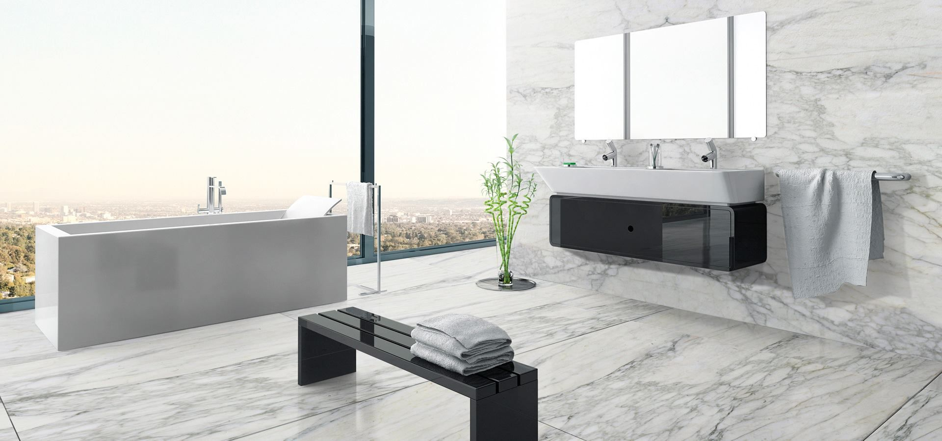 Two words Marble. Masterpiece. This bathroom is covered