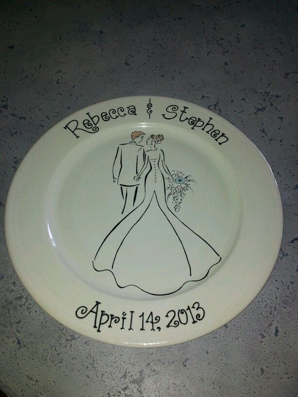 Wedding platter hand painted at Daydreams Ceramic Cafe #ceramiccafe