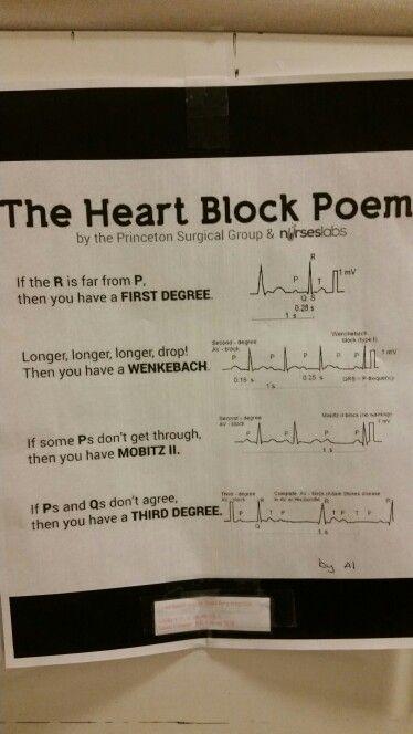 Heart Block Poem Somedaysanurse Heart Block Poem Heart
