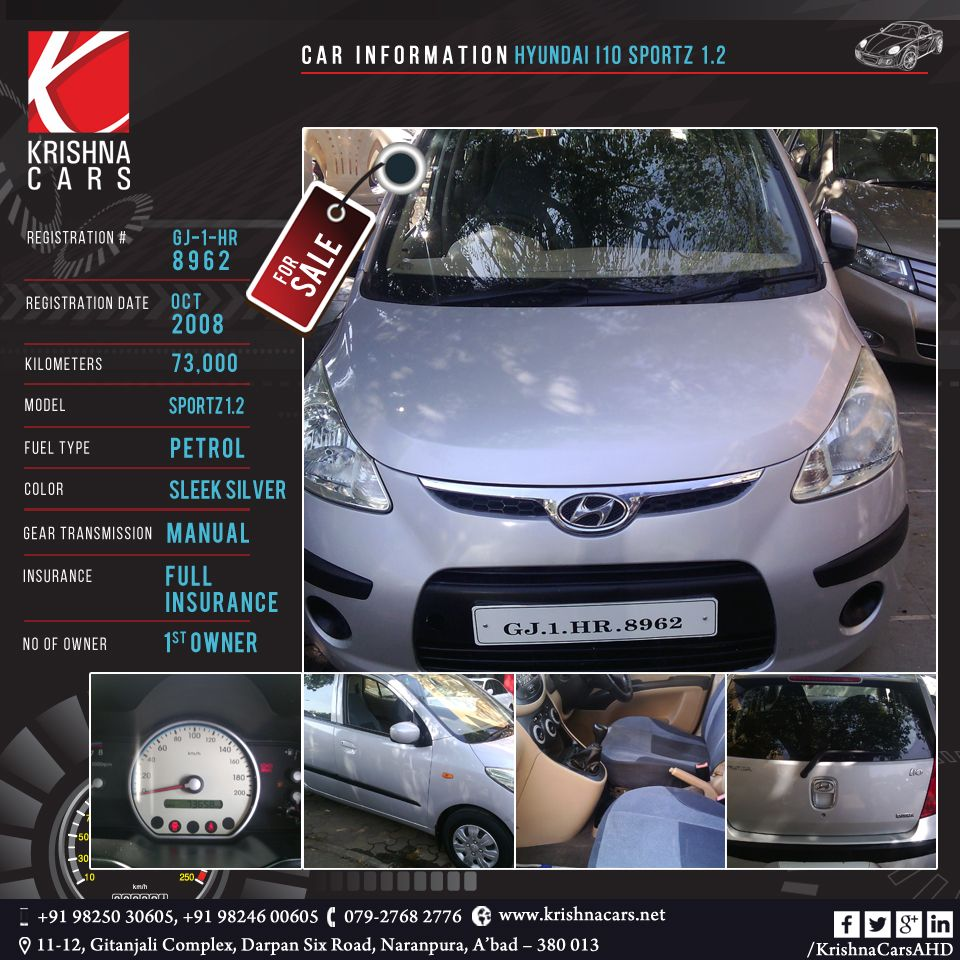 Usedcar For Sale Car Information Hyundai I10 Sportz 1 2