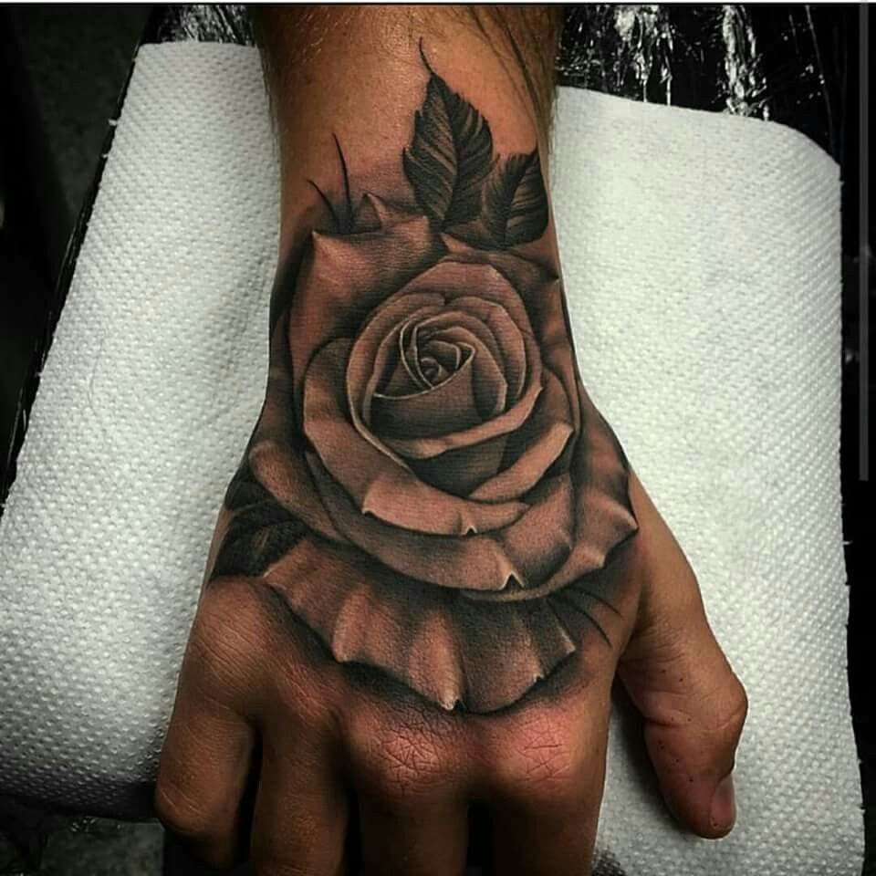 Pin by Abagail Tubville on tattoo parlor   Hand tattoos for guys, Hand tattoos, Rose hand tattoo