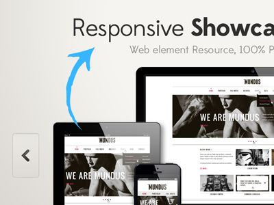 responsive showcase psd | presentation slides, projects and ui ux, Presentation templates