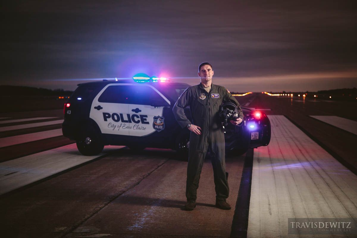 Eau Claire Police Department Police Officer Is In The United States Air Force Photo Taken On A Commercial Photographer Best Commercials Commercial Photography