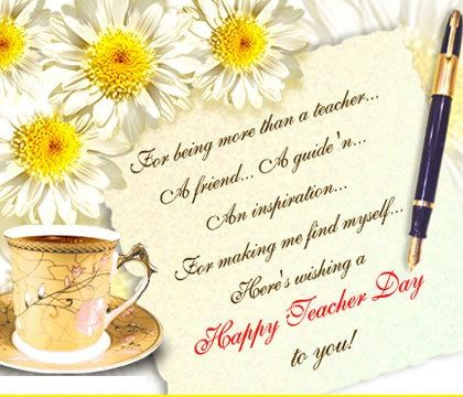 Flowers For Teacher Teachers Day Wishes Happy Teachers Day Wishes Teachers Day Card Message
