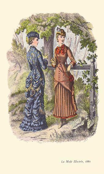 1880s In Western Fashion Wikipedia The Free Encyclopedia Fashion Plates Western Fashion Victorian Fashion