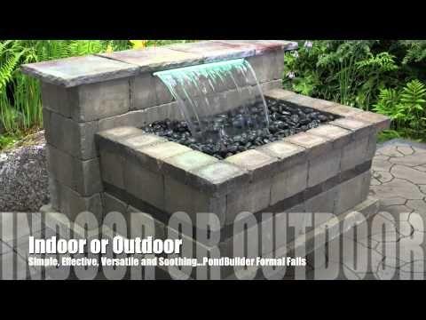 Retaining Wall Waterfall Examples Youtube Patio