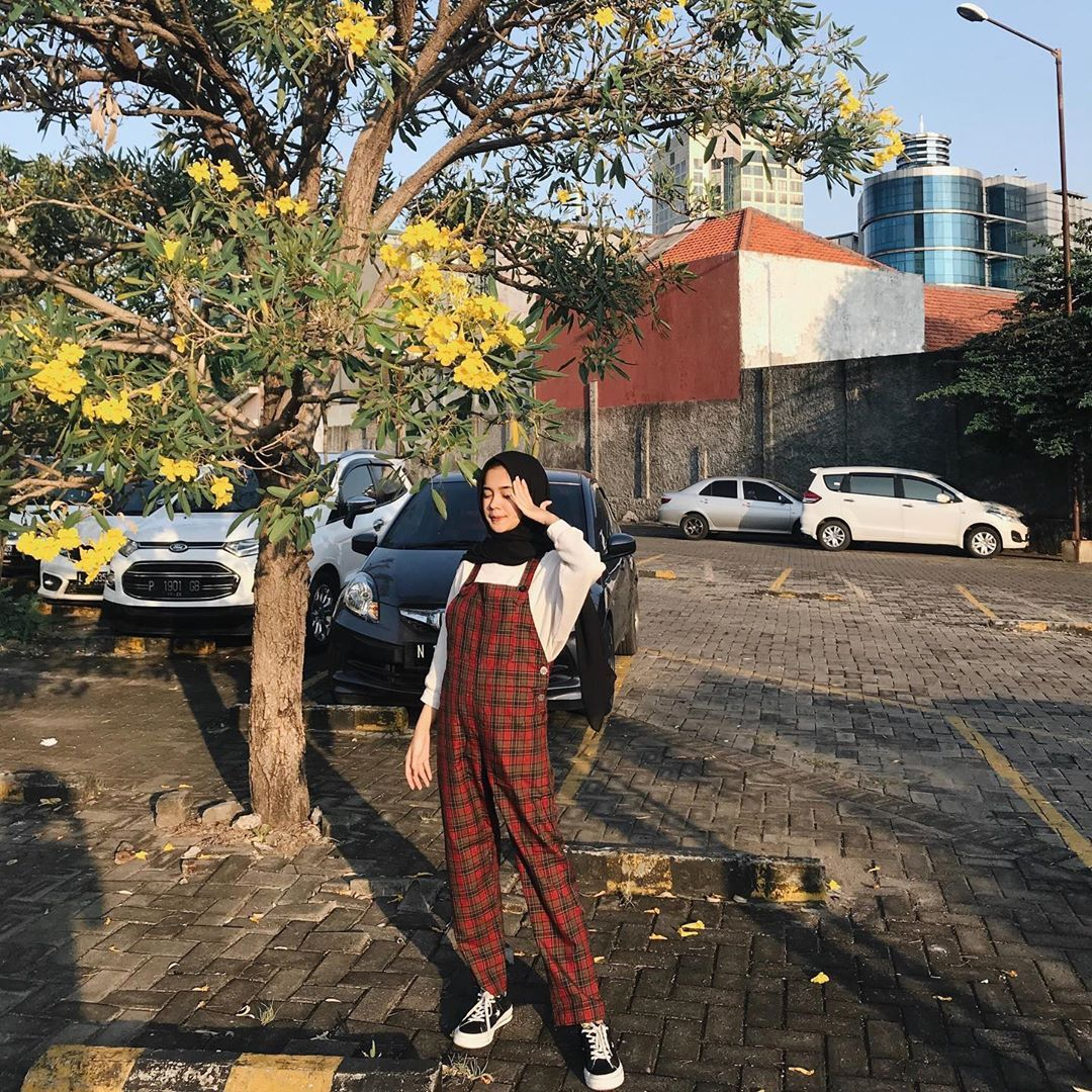 Yure On Instagram Tartan Overall From Ikatiket Gaya Remaja Baju Kodok Model Pakaian Remaja Wanita