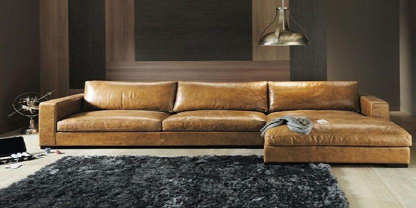Contemporary Mid Century Corner Sofa In 2020 Leather Corner Sofa Brown Living Room Decor Brown Living Room