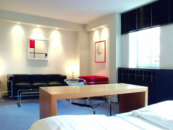 Einrichtungsbeispiele Raumgestaltung Inneneinrichtung Ideen Inneneinrichter  Wohnideen Loft Stil Bauhaus Mobiliar