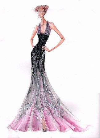 Blanka Matragi – sketch of dresses | Luxussilk