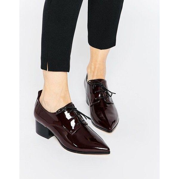 Asos Womens Othello Pointed Heels Burgundy - Heels