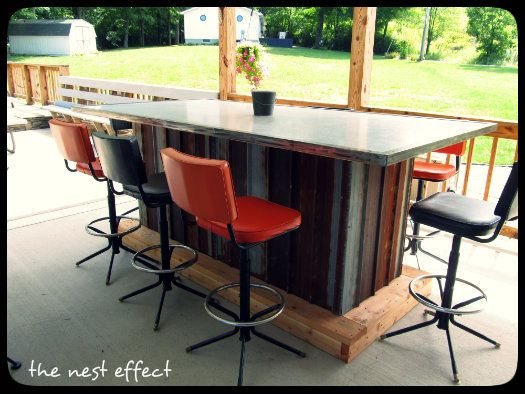 Pin On For The Home, Outdoor Bar On Wheels