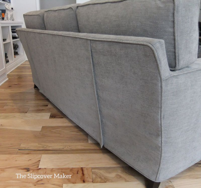 Pottery Barn Performance Tweed Fabric Used To Make This Custom Slipcover.  Double Zipper Opening On