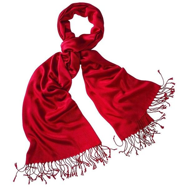 Merona Red NEW Solid Pashminas ($15) ❤ liked on Polyvore