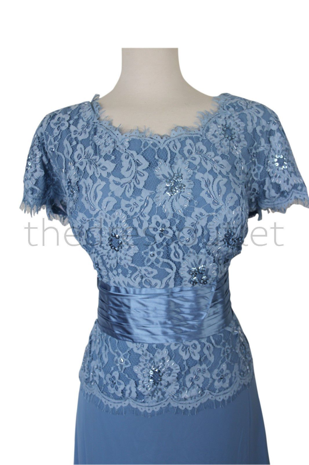 Long mother of the bride dress short sleeves and products