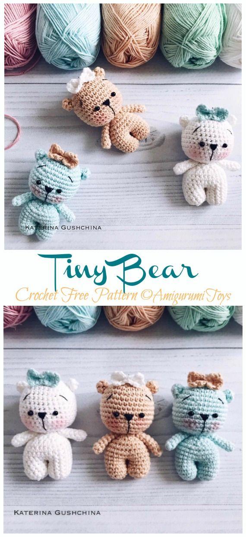 Amigurumi Tiny Bear Crochet Free Pattern - Crochet & Knitting #crochetdolls