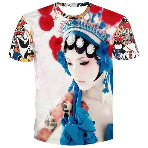 Fashion Men\'s Pullover Peking Opera Actress Printed T-Shirt #jewelry ...