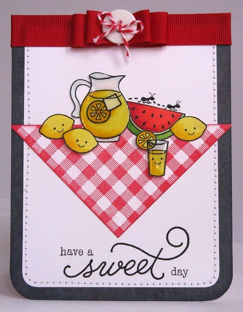 Sweet Day Lawn Fawn Picnic is part of lawn Fawn Sweet Friends - Lawn Fawn Happy Summer & Make Lemonade card