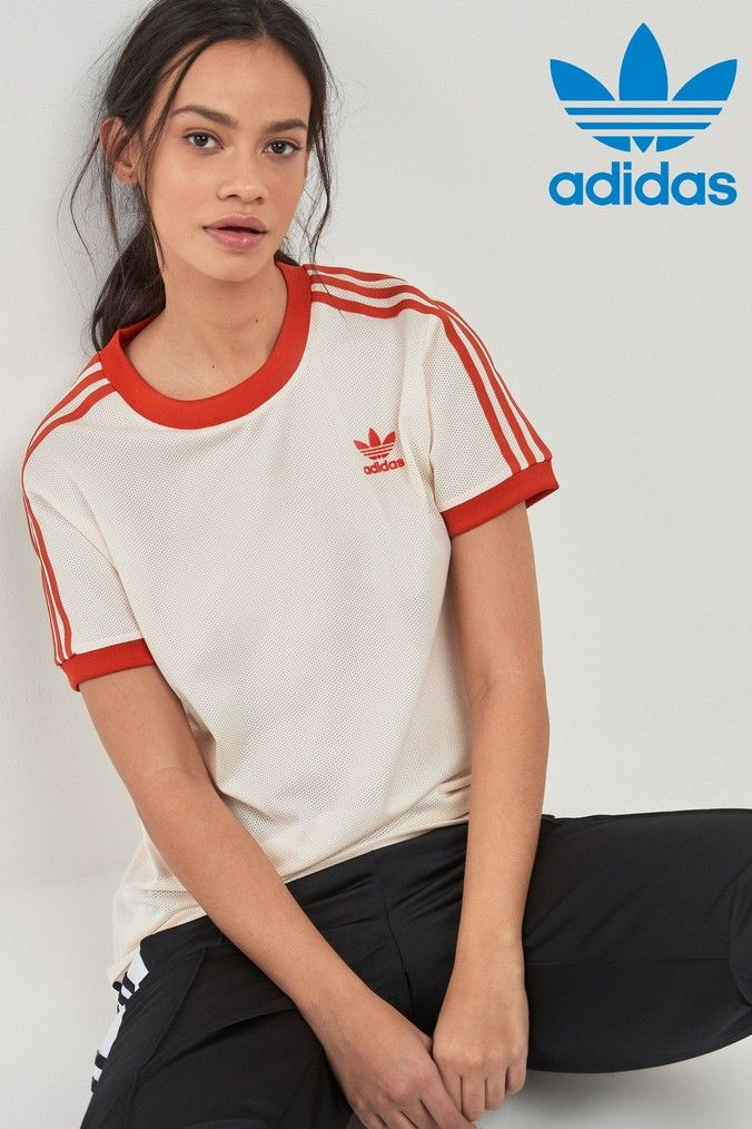 3 Stripes T Shirt | T shirts for women, Striped tee, Women
