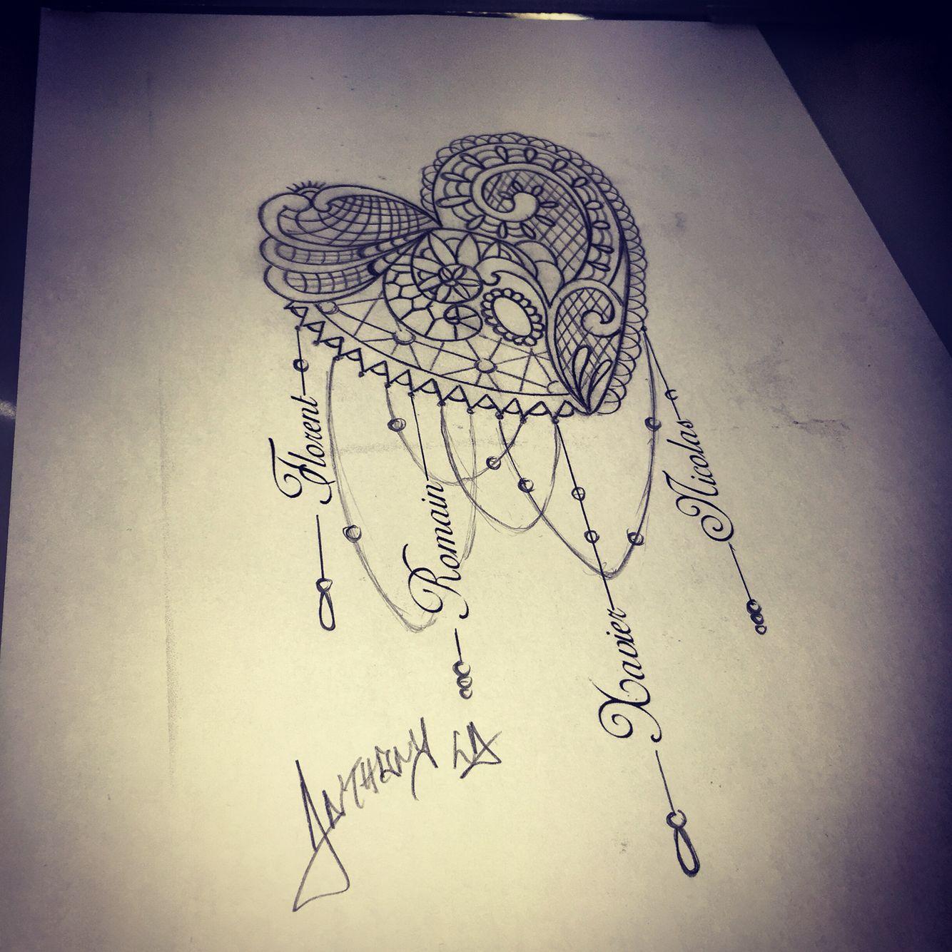 draw mandala tattoo tatouagemandala coeur tatouage. Black Bedroom Furniture Sets. Home Design Ideas