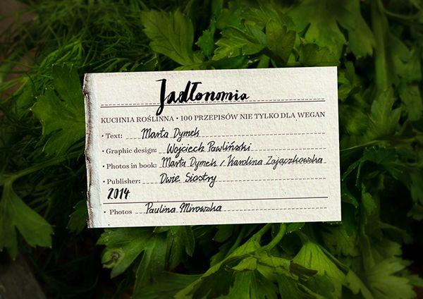 Jadlonomia Cookbook By Marta Dymek Creative Work Book Cover Creative Industries