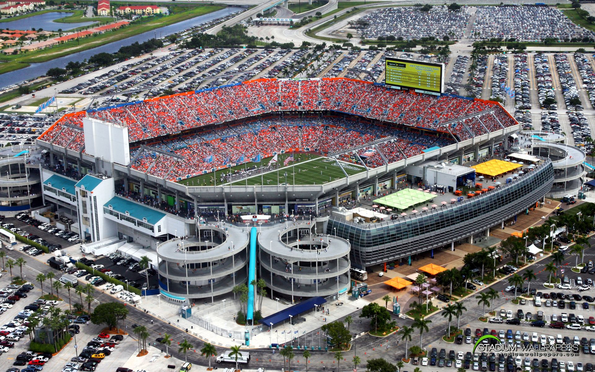 Miami Dolphins Living Room Boxes at Sun Life Stadium in Miami Gardens FLA Stadiums and Arenas