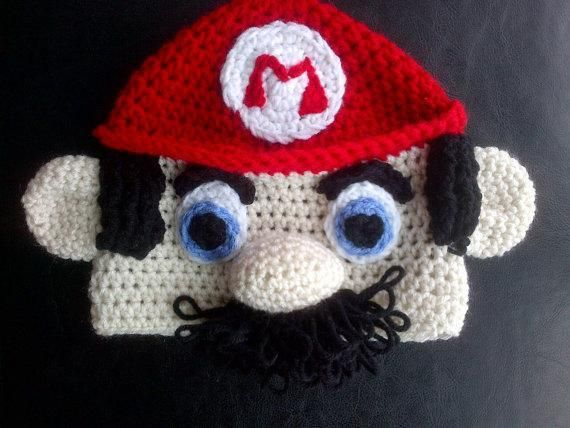 f7d4d20b400 Crochet Super Mario Hat Pattern - I love this. Would prefer luigi though.  Have always liked him better for some reason.