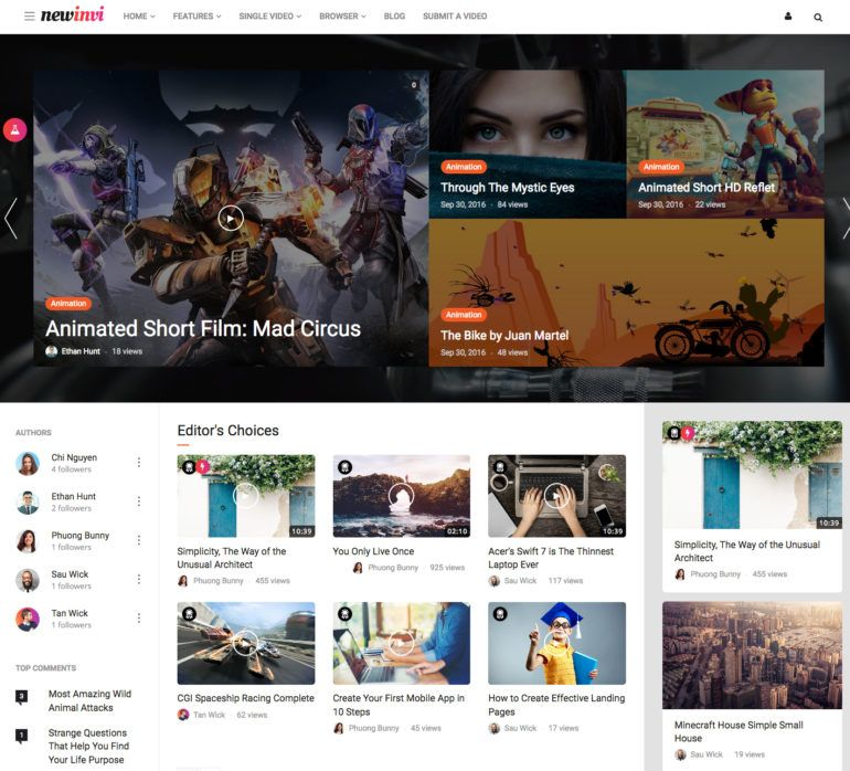 Newini - Video Portal / Magazine Theme | WordPress Themes ...