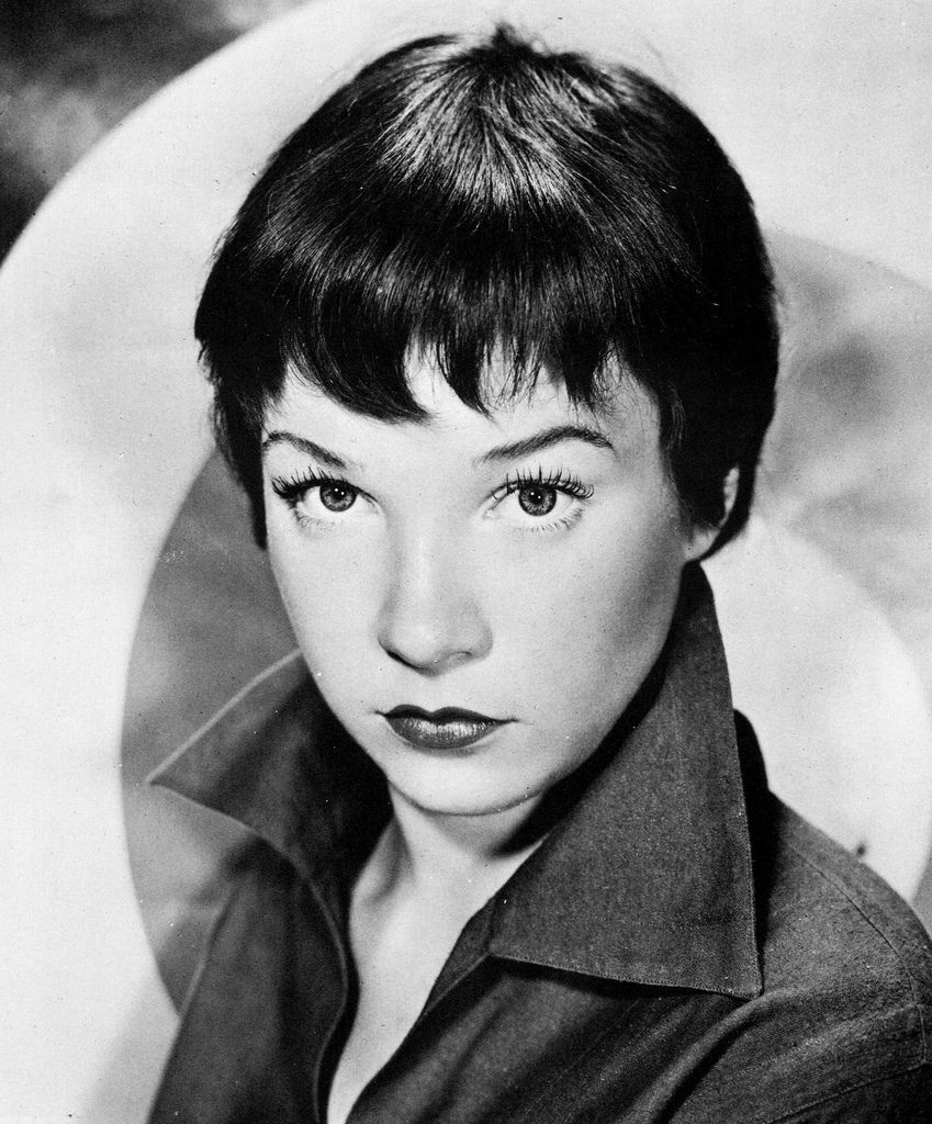 a very young shirley maclaine, 1950s. pixie cut with choppy
