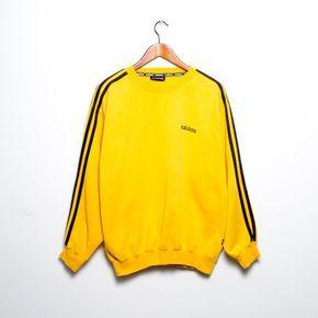 ea8858581b7c Pull Adidas jaune moutarde So beautiful