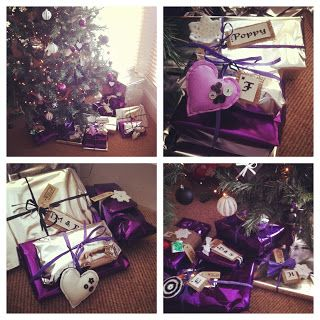 Purple and Silver Wrapping