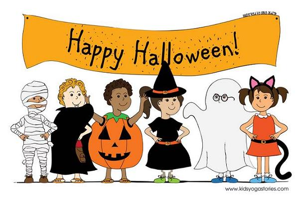 Halloween Coloring Page Kids Yoga Stories Yoga Resources For Kids Yoga For Kids Halloween Coloring Pages Halloween Poems