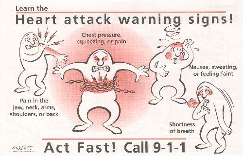 warning signs of heart attack