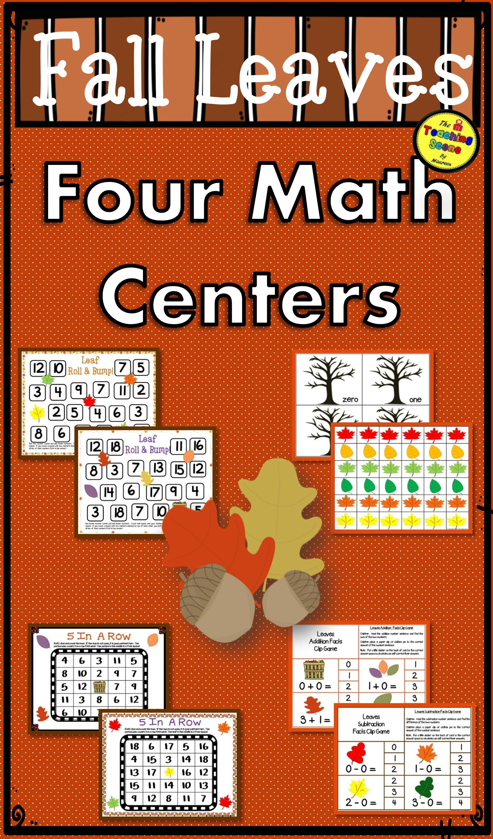 Fall Leaves Math Centers