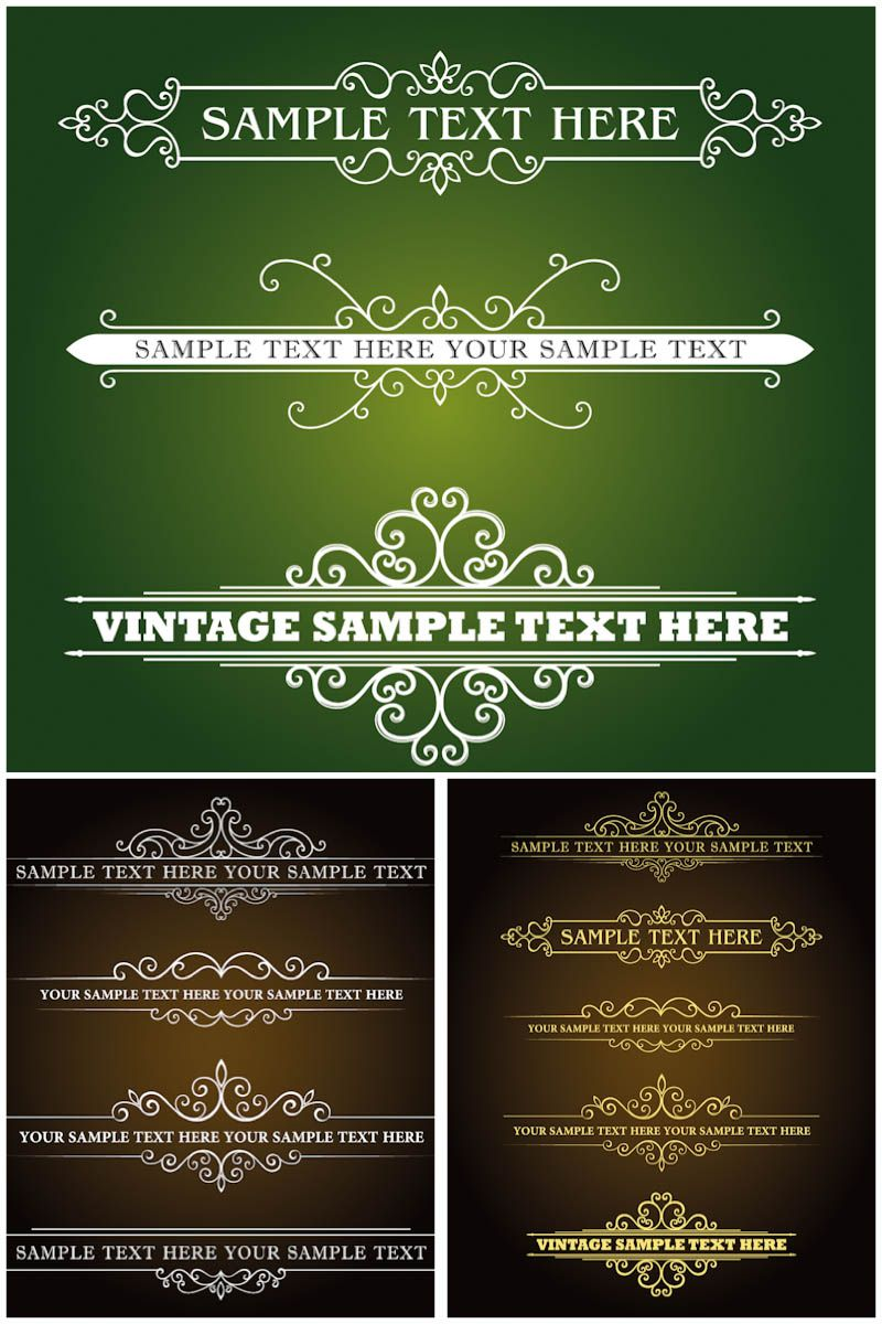 Decorative title banners vector free vector graphic resources decorative title banners vector stopboris Image collections