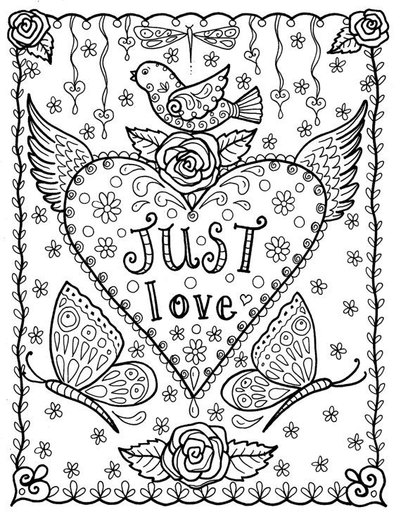 Free Printable Valentine's Day Coloring Pages | Hallmark Ideas ... | 738x570