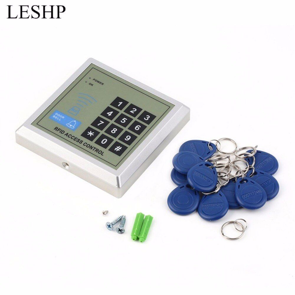 Limited Price Of Leshp Security Electronic Rfid Proximity Entry Door Lock Access Control System 10 Key Fobs Password Access Control Door Di 2020